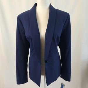 Single button blue blazer (#106)